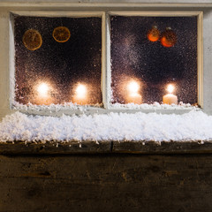christmas decoration on a window 30