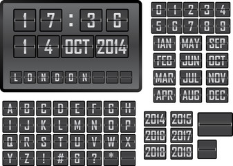 Vector of mechanical scoreboard display