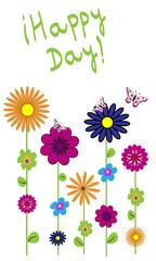 Happy day y flores.