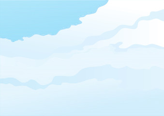 Cloudy sky. Vector background of  sky with clouds