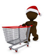 Morph Man with christmas shopping cart