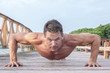 Outdoor push up workout