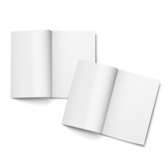 blank open magazines set