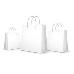 blank paper bags set