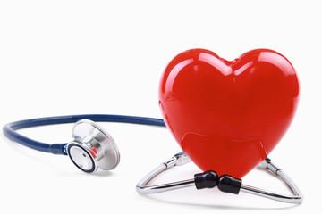 Stethoscope on electrocardiogram.