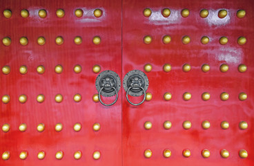 Old chinese door.