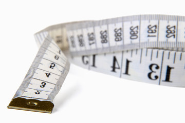 Measuring Tape, isolated on white background.