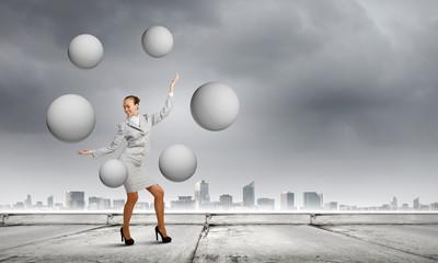 Woman juggler