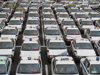 タクシーの集団