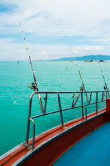 Sea fishing from the boat,