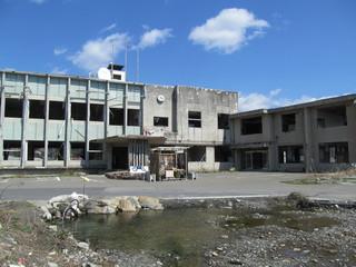 津波被害に遭った町役場