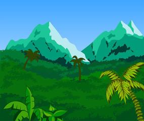 Tropical Landscape Background.