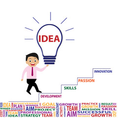 Business idea and innovation by vector