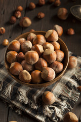 Raw Organic Whole Hazelnuts