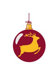 Weihnachtskugel rentier