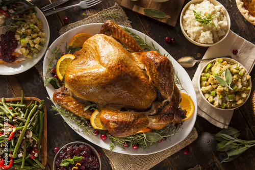 Aluminium Vlees Whole Homemade Thanksgiving Turkey