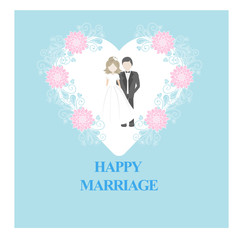 Happy marriage/wedding card or invitation