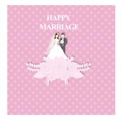 Happy marriage/wedding card or invitation