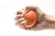 Leinwanddruck Bild - Hand squeezing a stress ball