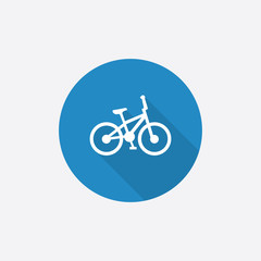 bike Flat Blue Simple Icon with long shadow.