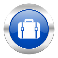 bag blue circle chrome web icon isolated