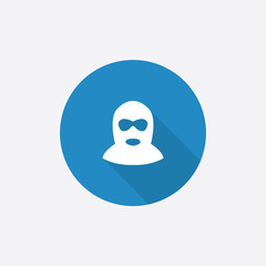 offender Flat Blue Simple Icon with long shadow.