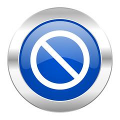 access denied blue circle chrome web icon isolated