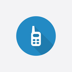 radio Flat Blue Simple Icon with long shadow.