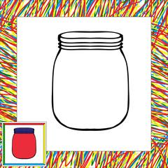 Jar coloring book
