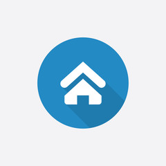 Home Flat Blue Simple Icon with long shadow.