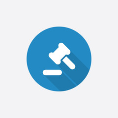 court law Flat Blue Simple Icon with long shadow.