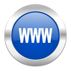 www blue circle chrome web icon isolated
