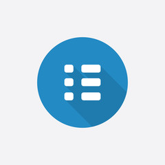 list Flat Blue Simple Icon with long shadow.