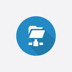 net folder Flat Blue Simple Icon with long shadow.