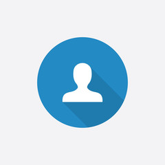 profile Flat Blue Simple Icon with long shadow.