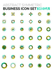 Flower, star shaped business icons