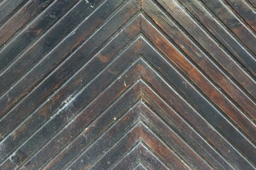 Old Wooden Gate Detail with Herringbone Pattern