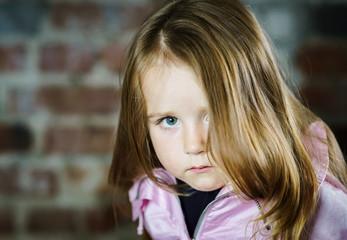 Cute little girl studio portrait