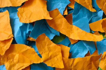 Colorful pieces of paper