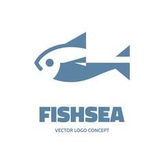 Fishsea - vector logo. Fish - vector logo template..