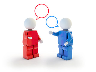 3d people conversation