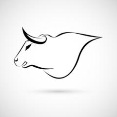 Bull Sign lines Design
