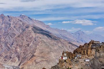 Dhankar gompa Buddhist monastery on a cliff