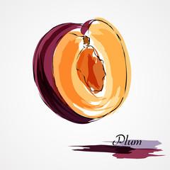 Plum fruit piece