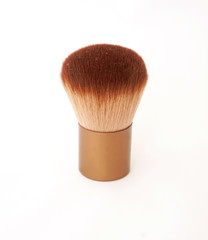 brown make up brush isolated on white