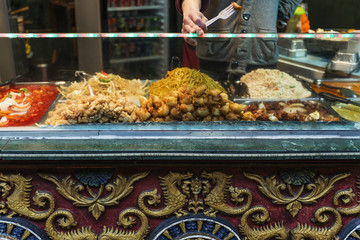 Traditional chinese food exposed in Camden Town