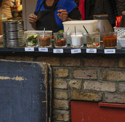 Typical spices exposed in Camden Town