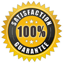 ql90 QualityLabel - Satisfaction Guarantee - Retro Badge - e2072