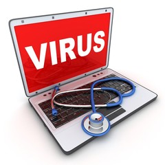 laptop and virus
