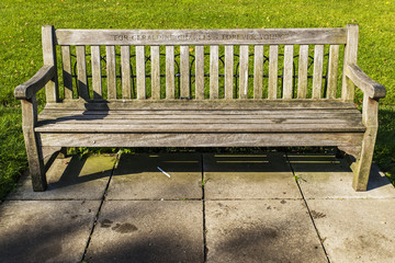 Bench in Hyde Park